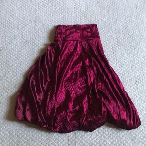 Lined velvet red skirt S size Christmas outfit!